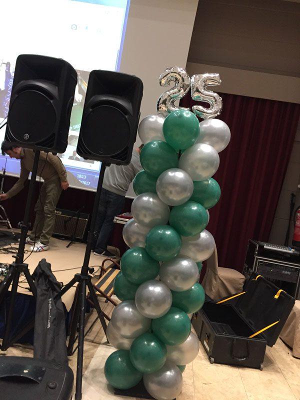 Decoración con globos - Columnas