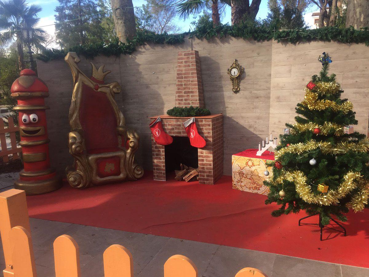 Poblado navideño en La Axarquía